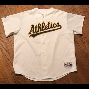 detailed look 5c5ed 82ccb Oakland Athletics Majestic Barry Zito Jersey
